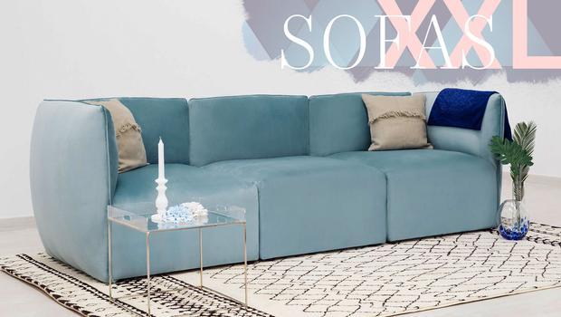 Erweiterbare Modular-Sofas Relax-Komfort in XXL   Westwing