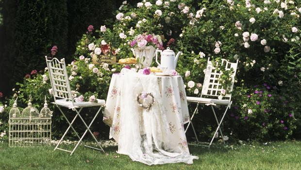 Romantischer Rosengarten