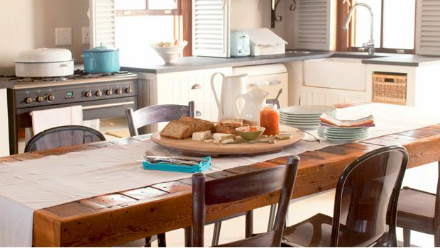 Cocina country-chic