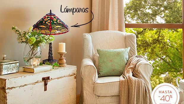 Lámparas Tiffany Luz