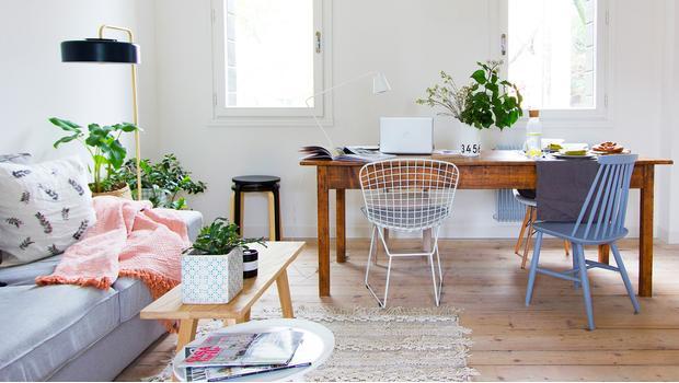 Un piso personal y relajado