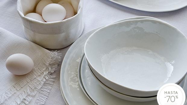 Porcelana en blanco