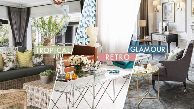 3 styles déco glam