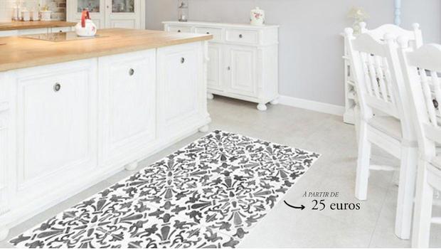 tapis vinyle personnalisez votre pi ce westwing. Black Bedroom Furniture Sets. Home Design Ideas