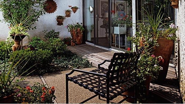 Un jardín en la toscana