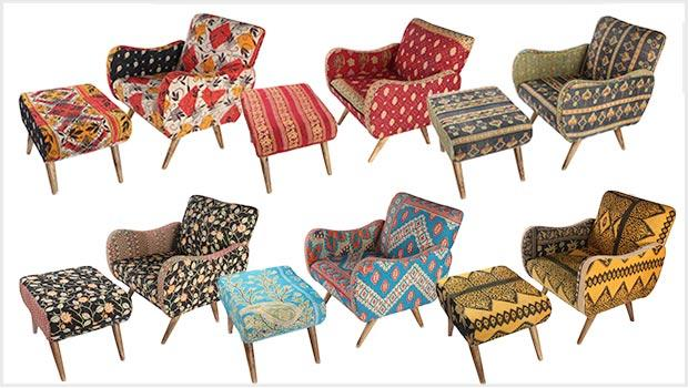 Armchairs and ottomans