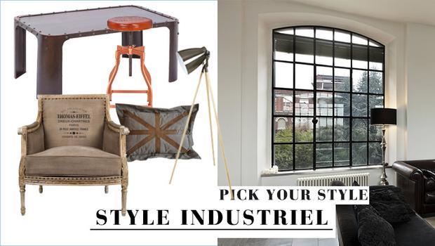 Vintage meubles métal alu indus