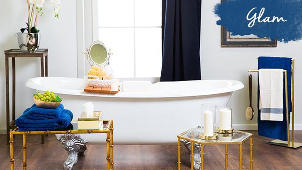 Salle de bain classique glam
