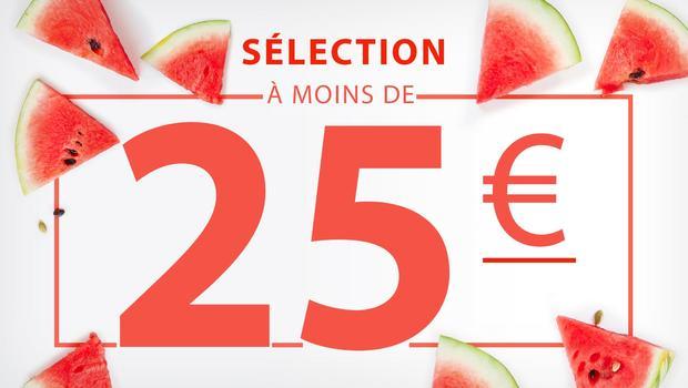 À moins de 25 euros