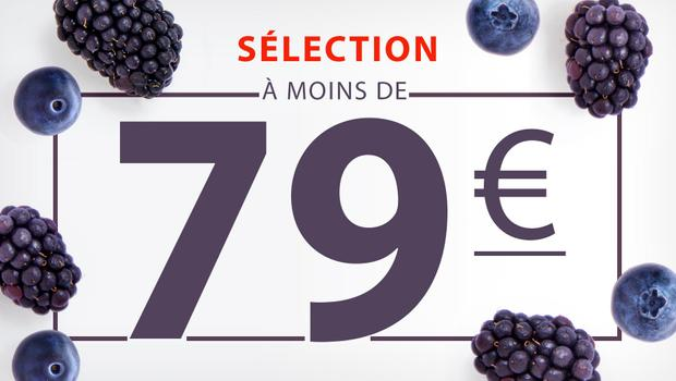 À moins de 79 euros