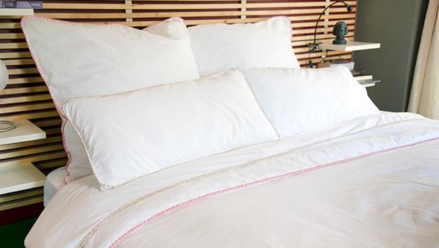 linge de lit drap été couleur coton satin