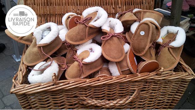 Chausson laine merinos enfant adulte chaud portuguese treasures