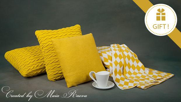 coussin plaid coton laine doux confort