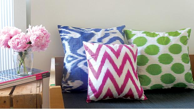 coussin ikat