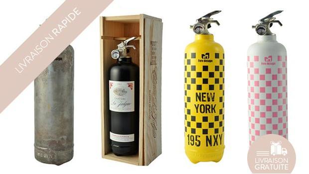 Extincteurs sécurité couleurs fun design incendie