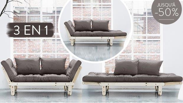 fauteuil sofa futon canap chauffeuse lit convertible karup canap s convertibles westwing. Black Bedroom Furniture Sets. Home Design Ideas