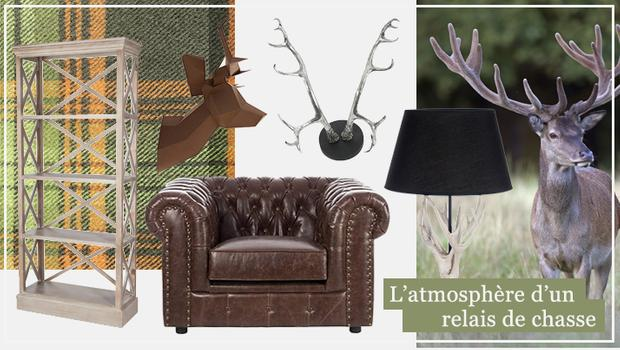 chasse hunting season mobilier décoration