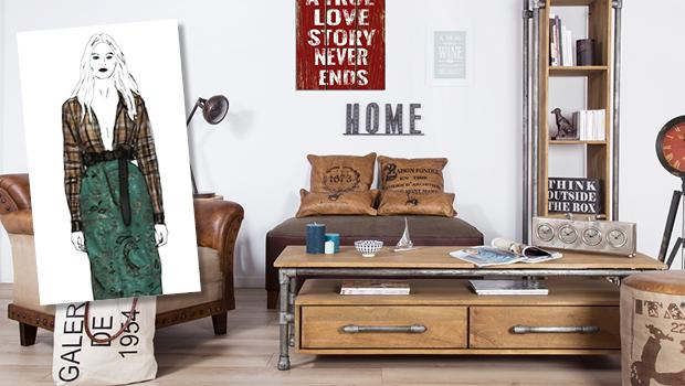 mobilier décoration industriel