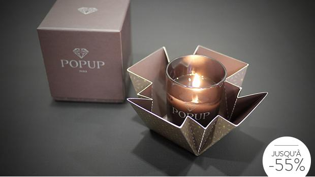 bougie pop up candles parfumée diamant cadeau surprise