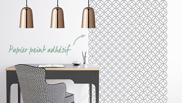papier peint vinyle adhésif décoration mur