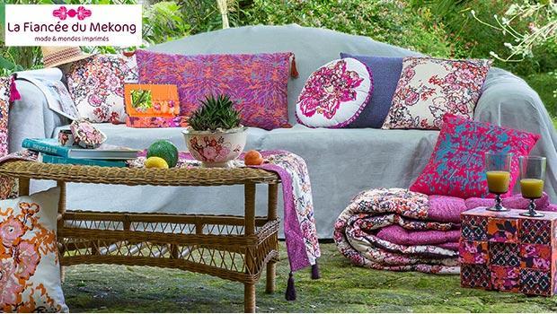 fianc e du m kong cadeaux coussins color d coration vaisselle d coration exotique westwing. Black Bedroom Furniture Sets. Home Design Ideas