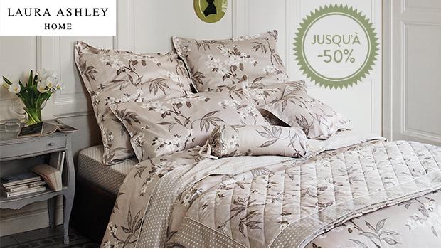 laura ashley parures de lit en satin de coton westwing. Black Bedroom Furniture Sets. Home Design Ideas