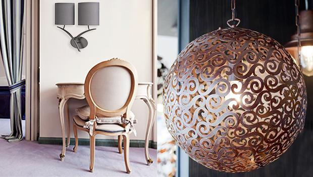 luminaires campagne chic suspensions appliques lampes poser westwing. Black Bedroom Furniture Sets. Home Design Ideas