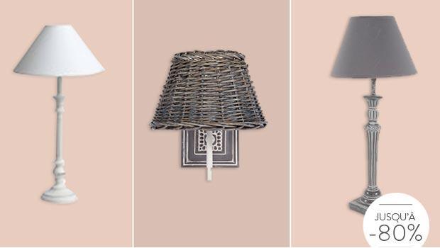lampe abat-jour applique
