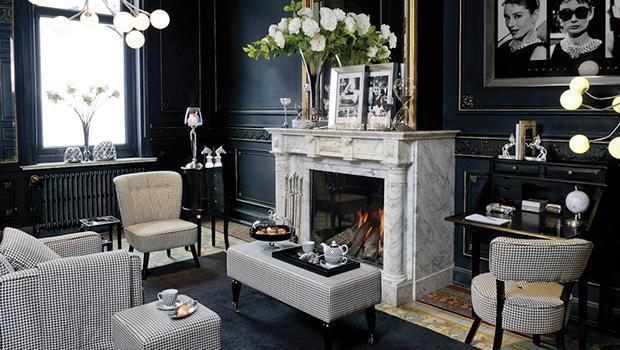 Déco et mobilier noir blanc métalisé cuivre argenté