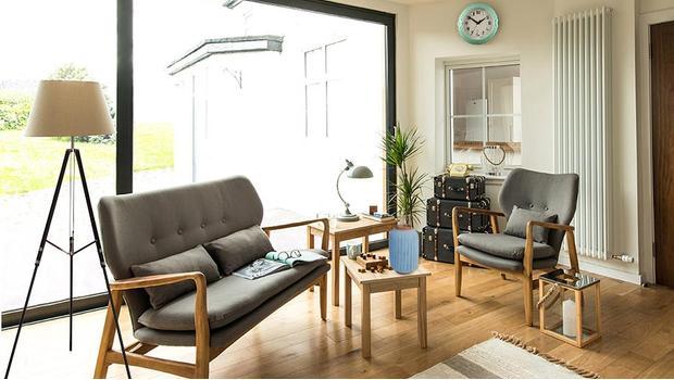 Copenhague mobilier déco scandinave bleu gris