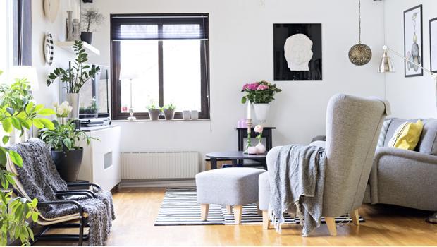 canapé, meubles, fauteuil, tabouret