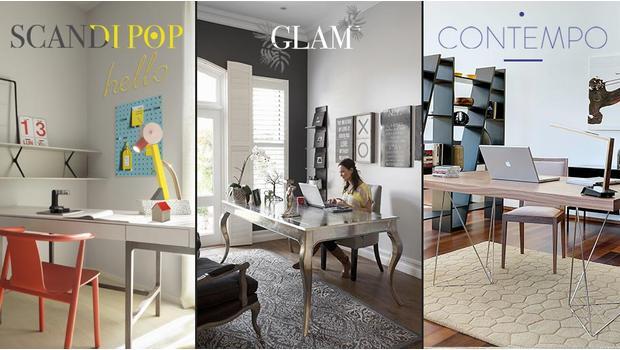Un bureau, 3 styles