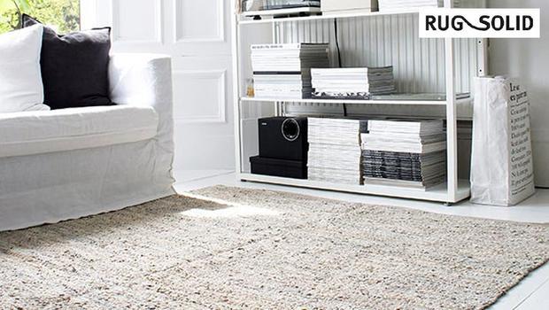 Tapis danois rug solid plastique coton cuir