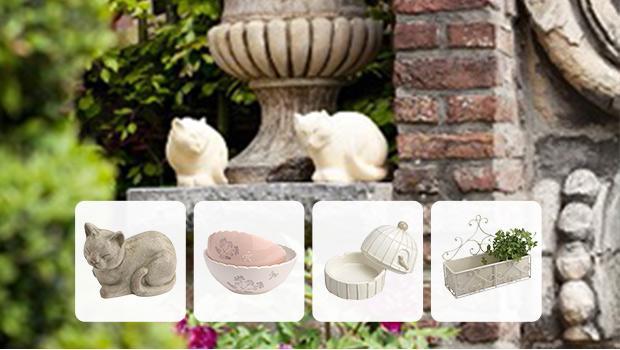 mobilier de jardin vase photophore en blanc rose westwing. Black Bedroom Furniture Sets. Home Design Ideas