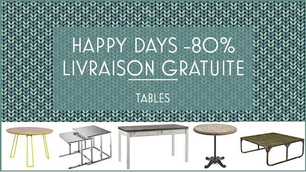 SOLDES - tables d'appoint, tables basses, tables de repas etc.