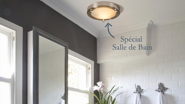 salle de bain luminaires appliques plafonniers