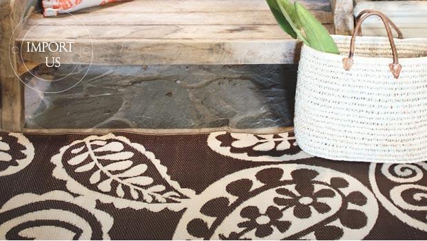 tapis poufs graphique design couleur losange