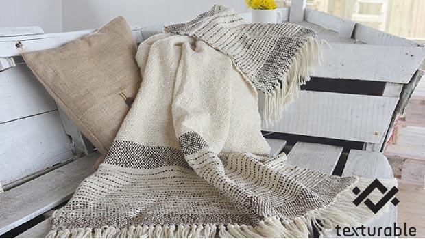 Plai couverture texturable laine merinos coussin