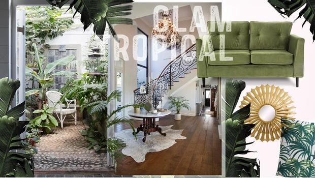 good tropical summer glam with canap glam but. Black Bedroom Furniture Sets. Home Design Ideas