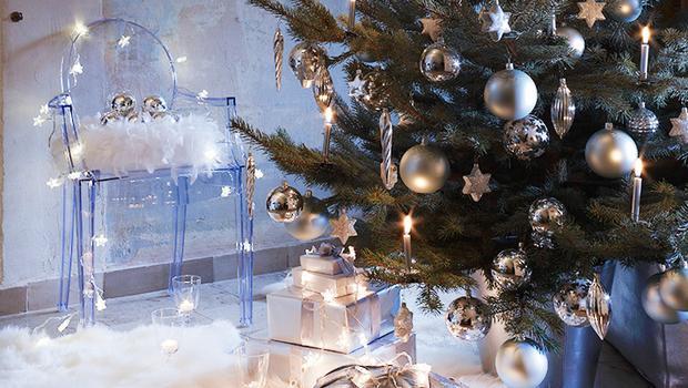 Noël blanc et argenté