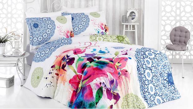 Un letto a colori