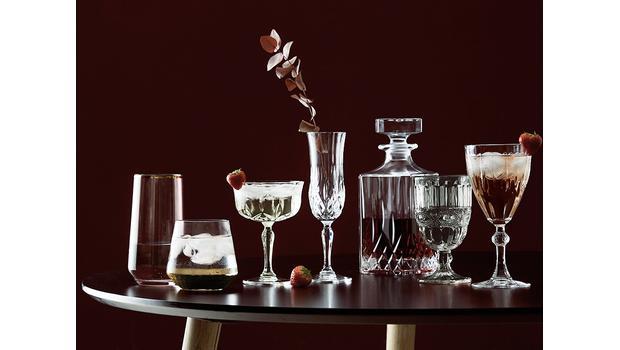 Bicchieri in stile Vintage