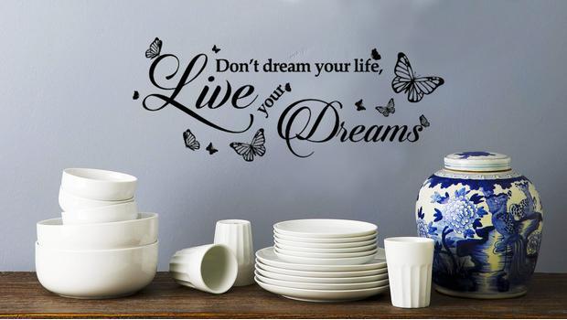 Walplus adesivi da parete citazioni disegni e lavagnette for Dalani adesivi parete