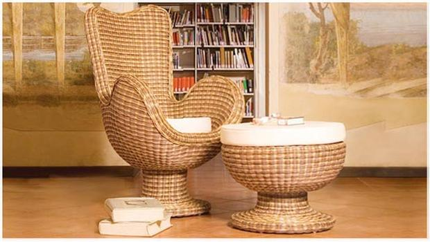 Rustico rattan vasi sedie e deco westwing for Vasi in rattan