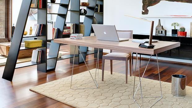 Kantoor Aan Huis : Kantoor aan huis bureaus en boekenkasten westwing