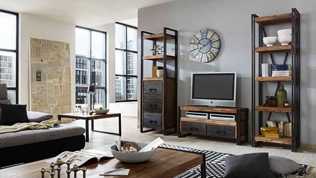 brooklyn loft meubels met industrial look westwing. Black Bedroom Furniture Sets. Home Design Ideas