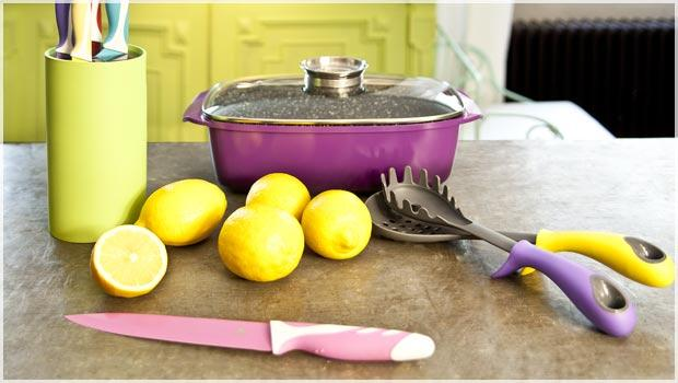 De kleurrijke keuken