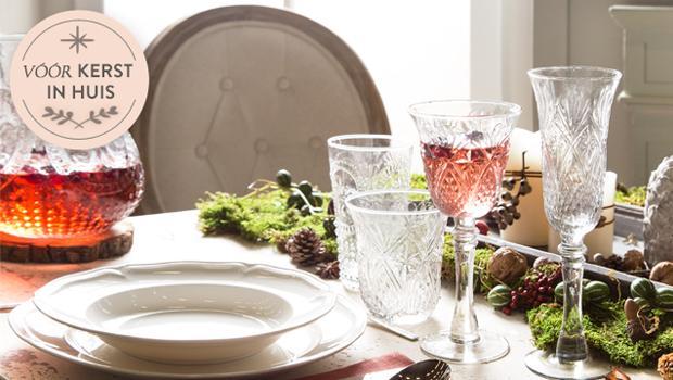 Een rustieke kersttafel