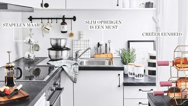 Opbergen Kleine Keuken : Kleine keuken kunde kook de sterren van de hemel in een minimale