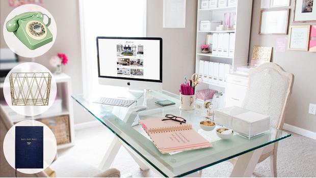 Een vrolijk home office
